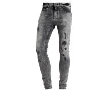 ACID WASH - Jeans Skinny Fit - black