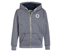 CORE - Sweatjacke - navy/white marl