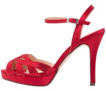 High Heel Sandaletten - rojo