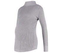 MLKYLIE Strickpullover light grey melange