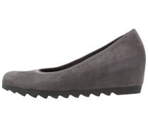 Keilpumps dark grey