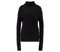 FLUFFY Strickpullover black