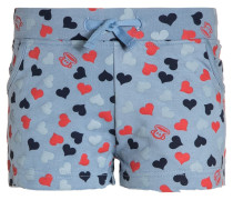 Allover hearts sweat short girls Shorts light blue