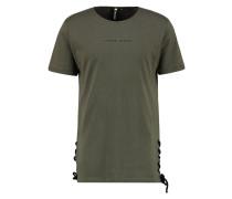 T-Shirt print - olive/black