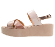 Plateausandalette cotto/terra/nude/rose
