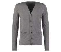 Strickjacke mottled grey
