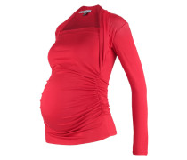 GLOSSY Langarmshirt red