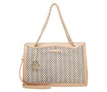 Handtasche beige/white