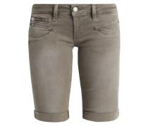 BELIXA - Jeans Shorts - dustee olive