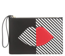 GRACE Clutch black/white/red