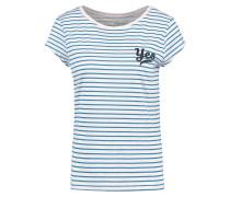 YES - T-Shirt print - beige/blue