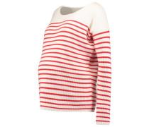 Strickpullover red stripe