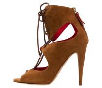 High Heel Sandaletten chestnut