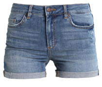 PCFIVE DELLY - Jeans Shorts - medium blue denim