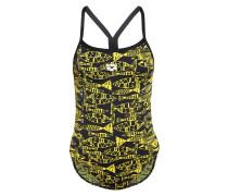 Badeanzug black/yellow star