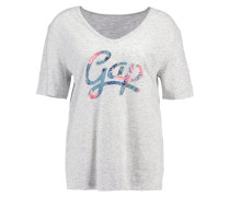 T-Shirt print - lt heather grey