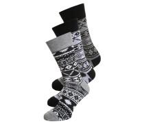 3 PACK Socken grey/black/white