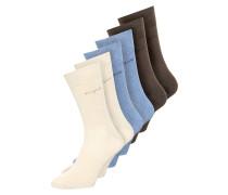 6 PACK Socken beige/light denim melange/brown melange