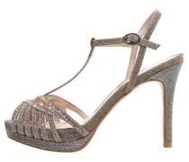 High Heel Sandaletten pewter