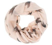 Schlauchschal - nude/turquoise/pink