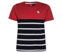 T-Shirt print - red/white/navy