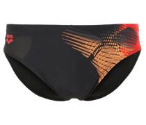 BRISA Badehosen Slips black/red