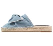 Pantolette flach - blue