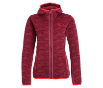 PUEZ Fleecejacke red on/tawny