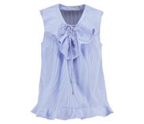 HAMAN - Bluse - ecru/bleu nuit