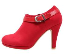 High Heel Stiefelette red