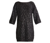 Strickkleid - black/silver