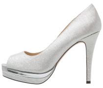 EL ALMENDRO - High Heel Peeptoe - silver