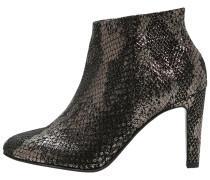 High Heel Stiefelette black/gold