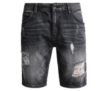 Jeans Shorts - dark stone black denim