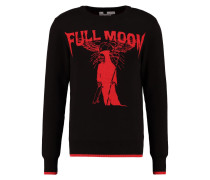 BLACK FULL MOON INTARSIA - Strickpullover - black