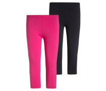 2 PACK Leggings Hosen pink/dunkelblau