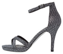 High Heel Sandaletten pewter glam