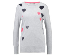 HEART Strickpullover grey