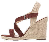 High Heel Sandaletten marron