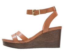 WONTONI Plateausandalette brown