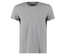 REGULAR FIT TShirt basic mottled grey