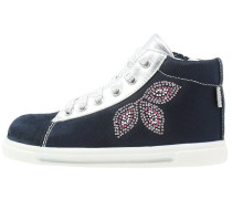 Sneaker high blu navy/argento