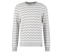 Strickpullover - light grey - offwhite