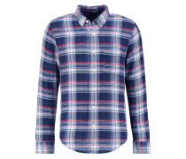 MUSCLE FIT Hemd blue check