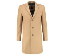 GLEASON Wollmantel / klassischer Mantel desert melange