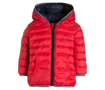 Daunenjacke pop red