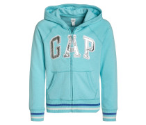 Sweatjacke splash blue