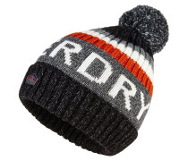Mütze black twist/burnt orange