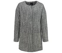 Wollmantel / klassischer Mantel black and white