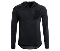 ELEMENTS Langarmshirt black melange